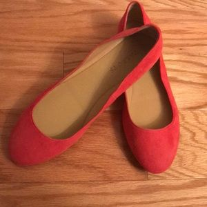 Talbots coral nubuck suede flats